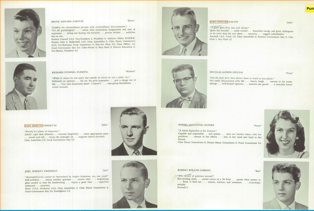 1958 Raider Yearbook